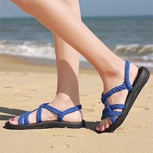 4dc97e325c73c URRAX Women's Comfortable Flat Walking Sandals with Arch Support Waterproof  for Walking/Hiking/Travel/Wedding/Water Spot/Beach.