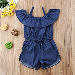 toddler,girl,one,piece,romper,2t,3t,4t,5t,6t,summer,outfits,denim,shorts,clothes,sets,cute,2019,kids