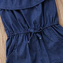 one pieces denim romper