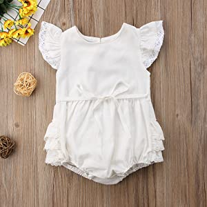 toddler girl romper 2t white rompers jumpsuit ruffle lace photography photo shoot one year old