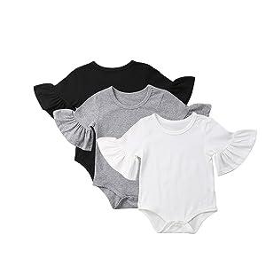 white,black,plain,onesies,long,sleeve,onesie,summer,clothes