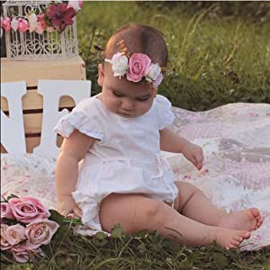 Baby Girl Rompers 18-24 Months white