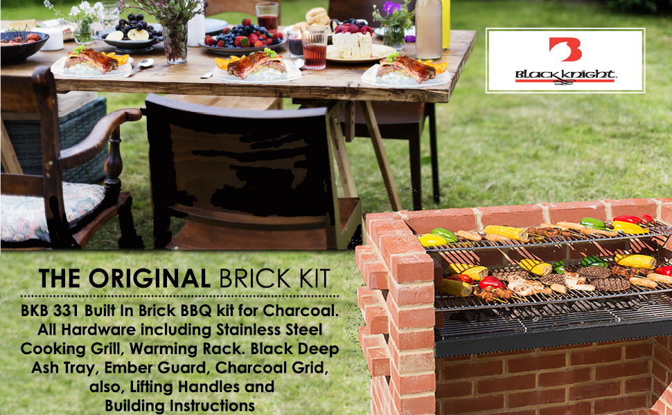 Amazon.com: Bkb 331 Kit de ladrillo de barbacoa con ...
