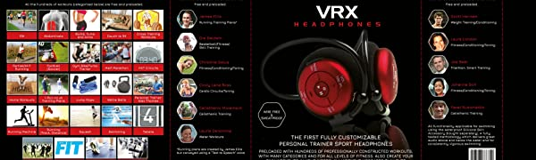 FX-Sport VRX Premium Wireless Sport Headphones, Earphones with Fully  Customizable Trainer for Swimming, Running, Gym  8GB Waterproof Mp3 Player