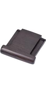 black wood hot shoe cover