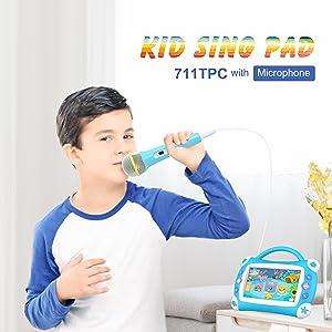 iview, 711tpc, cojín de cantos para niños, tableta Android, karaoke