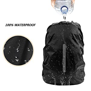 18-55L KKTICK Waterproof Backpack Rain Cover Backpack Covers Adjustable Anti Slip Buckle Strap /& Silver Coated Inner Layer for Outdoor Hiking Camping Traveling Cycling with Reflective Strap