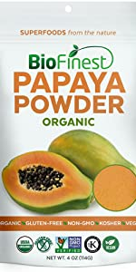 extract capsules softgels supplement powder superfood papaya juice