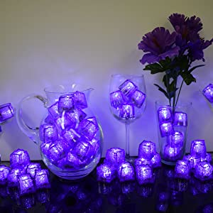 led ice cubes litecubes flashing lilght up ice cubes amethyst purple