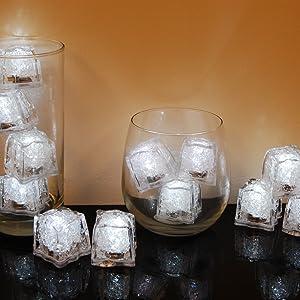 LiteCubes light up led ice cubes flashing white ice cubes