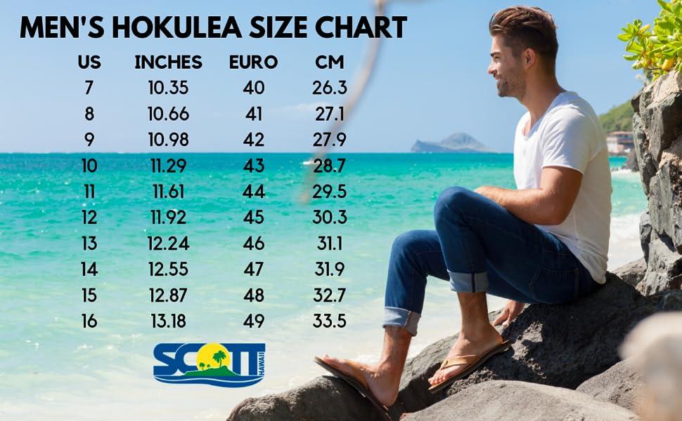 Scott Sandals Size Chart