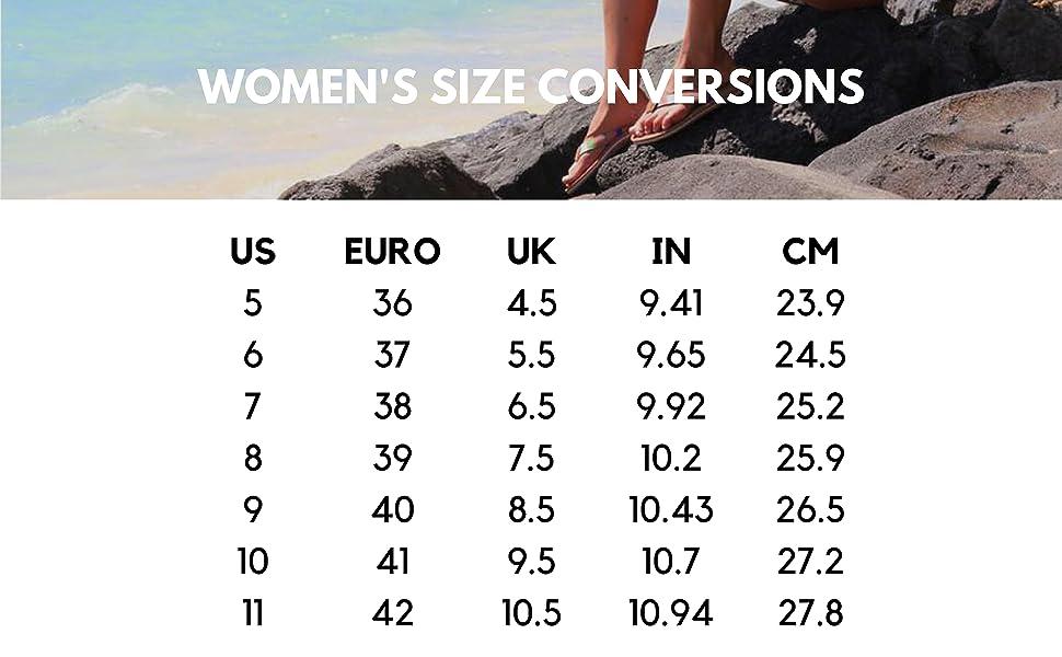 Scott Hawaii Womens Size Chart