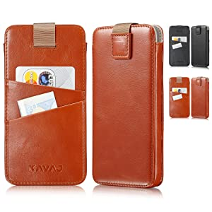 KAVAJ iPhone XS Max Miami cognac front and rear