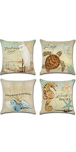 ocean pillow covers