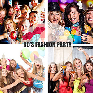 LOYALLOOK 80s Outfit Costume Accessories Leg Warmers Gloves Neon Earrings Bracelet and Beads for 1980s Theme Party Supplies