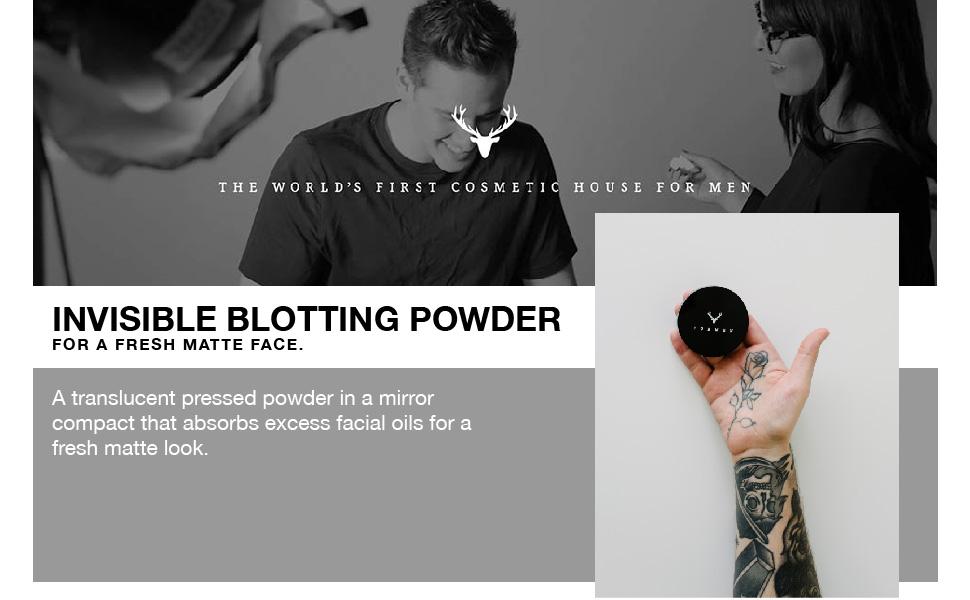 makeup for men, blotting powder, facial powder, facial shine, male shine, shiny face, powder