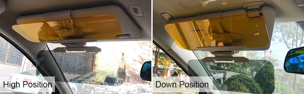 01d4216e Amazon.com: Beinhome Car Sun Visor Extender 2 in 1 Anti-Glare Visor ...