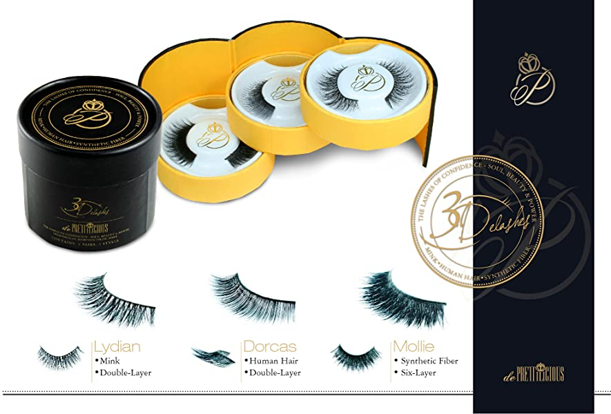 Amazon Today Deal 3 In 1 Lash Collection Mink Human Hair