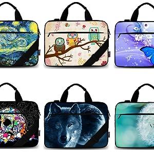 """iColor 15"""" Canvas Laptop Shoulder bag"""