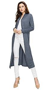 7408e9bd89d ... EttelLut Long Lightweight Wrap Cardigans Sweaters Open Front Regular  Plus Size ...