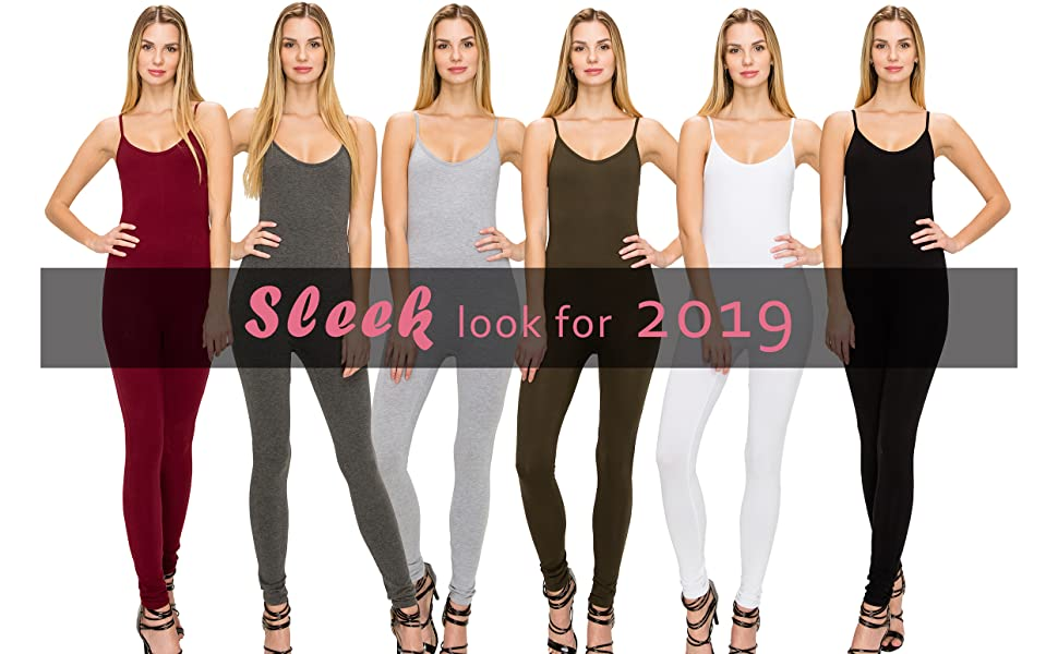 aa691ae25ab1 EttelLut Bodycon Jumpsuits Rompers Bodysuits-Long Yoga Span Playsuits for  Women