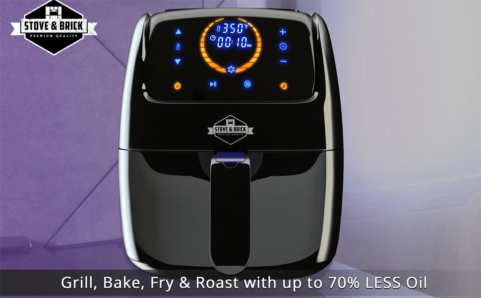 Amazon.com: Stove & Brick Air Fryer - 3.2QT LOW NOISE with