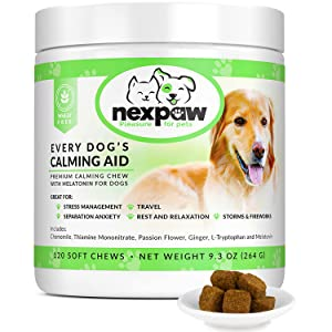 calming treats aid for dog
