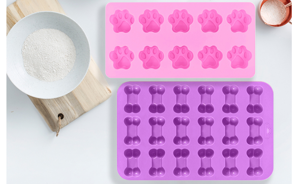 IHUIXINHE Food Grade Silicone Mold, Non-Stick Ice Cube Mold, Jelly, Biscuits, Chocolate, Candy, Cupcake Baking Mould, Muffin pan
