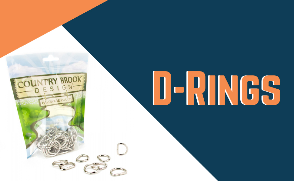 Overig Country Brook Design® 3/4 Inch D-Ring with Clip 10