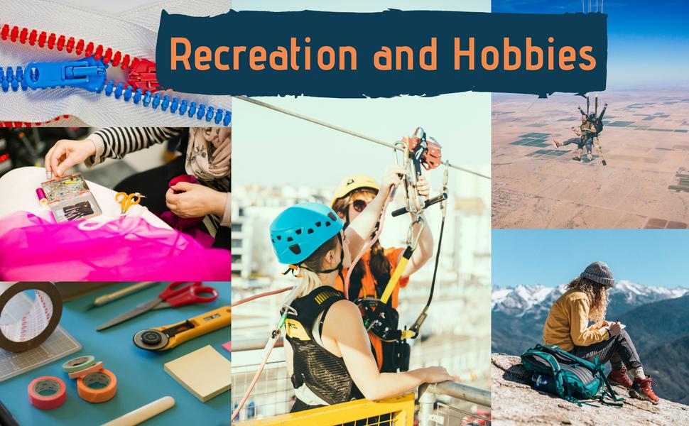 recreation hobbies skydiving sewing zip line mountains