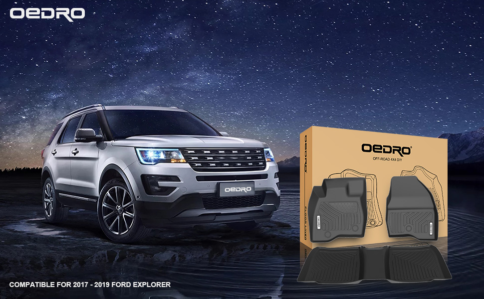 OEDRO floor mats for 2017 2018 2019 Ford Explore