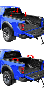 Roll Up Tonneau Cover 5 5 Bed For 2015 2019 Ford F 150 Oedro