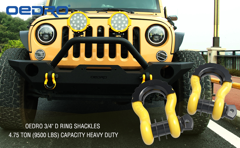 d ring shackles tow