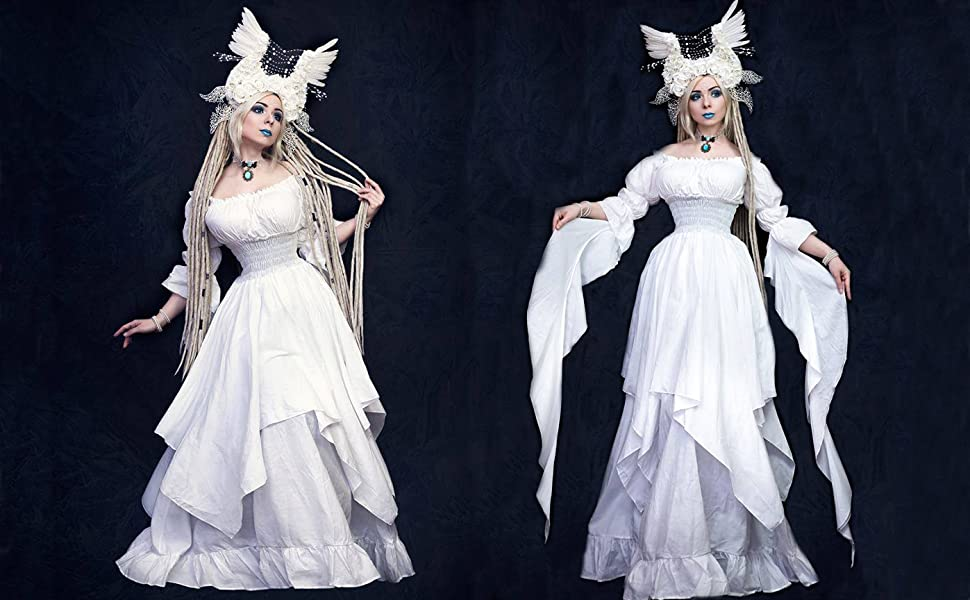 Lemail Womens Gothic Lolita Princess Dress Renaissance Victorian ...