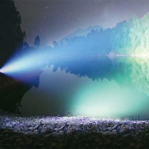 1800 lumen brightness beam intensity long throw focused