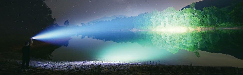 Blazing bright 1800 lumens Tactical Flashlight