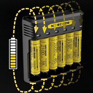 carregador de bateria de seis slots