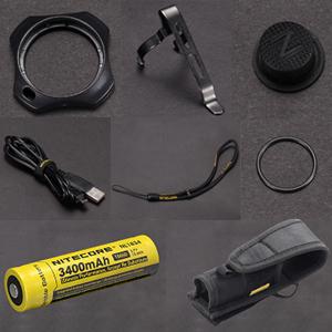 Nitecore mh25gt jagdset Lampe Câble de charge batterie Rotfilter grünfilter telerupteur