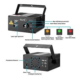 DJ laser lighting