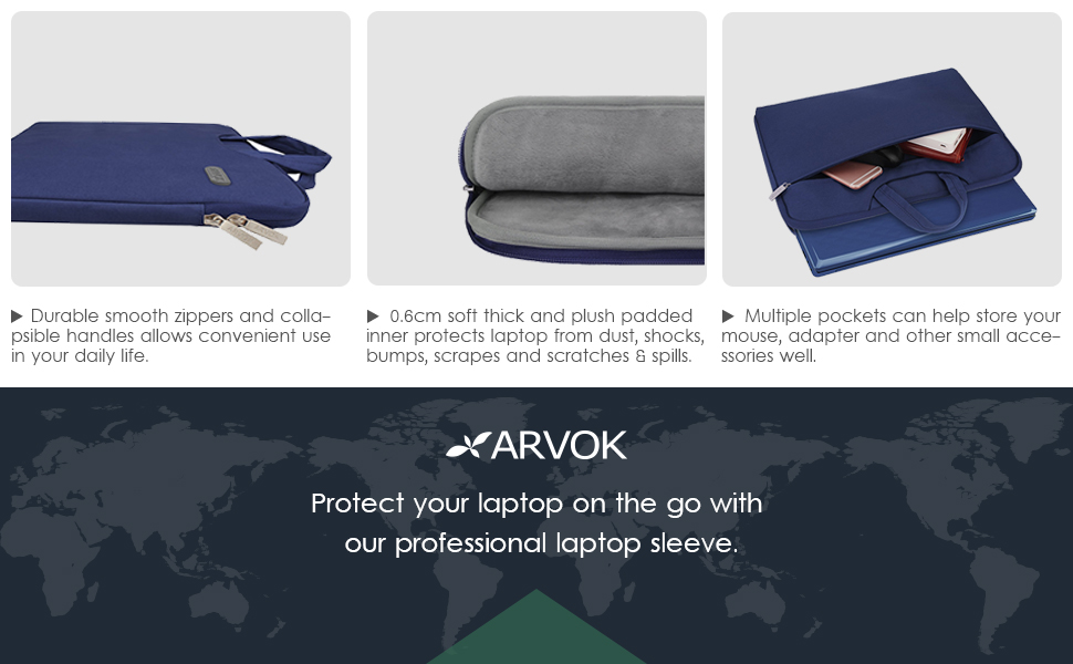This Arvok laptop sleeve is specially designed for most of 13-13.3 inch laptops.
