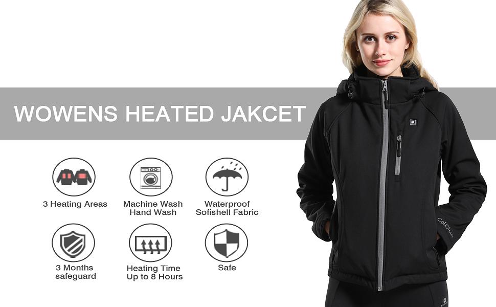 women heated jackets