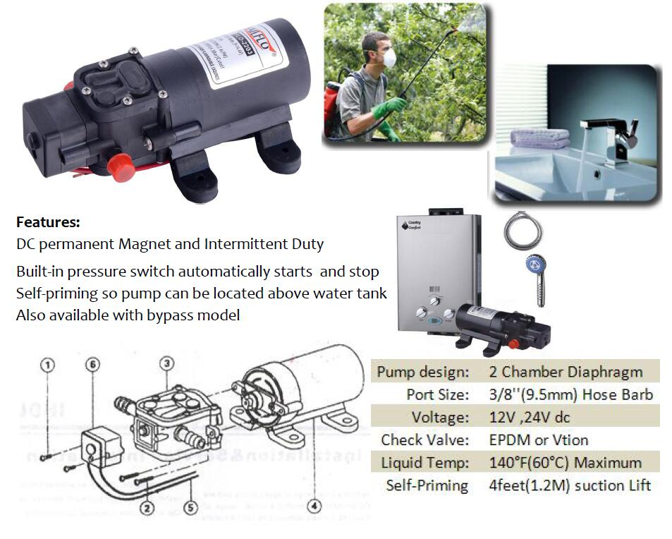 Amazon sailflo 12v dc water pressure diaphragm pump pressure sailflo 2 chamber dc diaphragm pump flo series ccuart Gallery