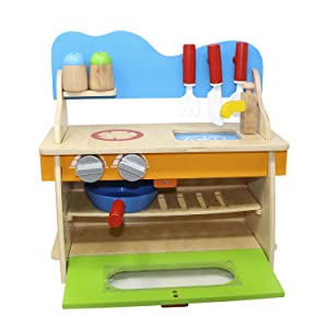 Quality Wood Construction And Easy Assembly This Wooden Toy Play Set ...
