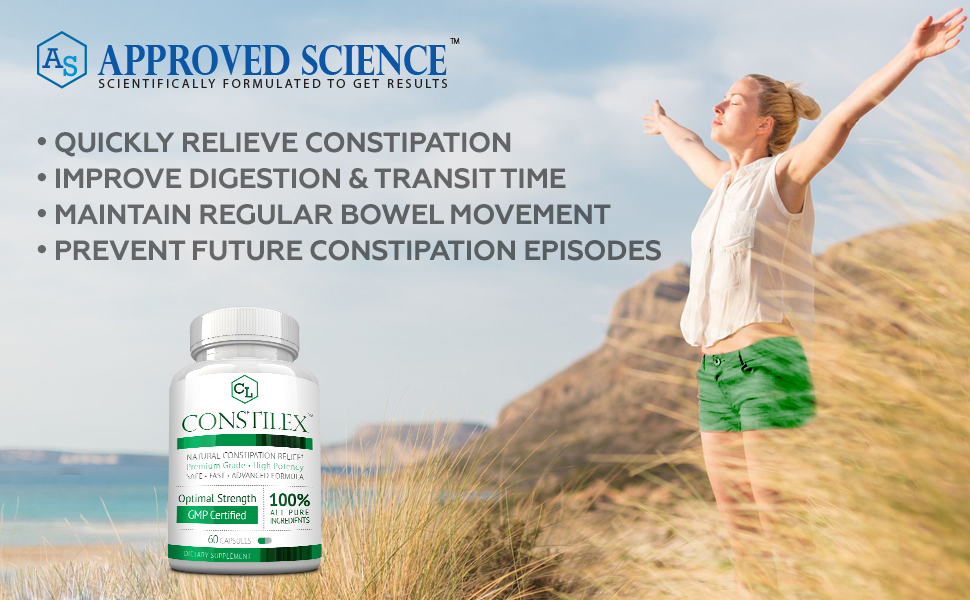Approved Science Constilex Colonax IBS Relief Constipation Colon Cleanser Ahletol Prostarex Hemovir