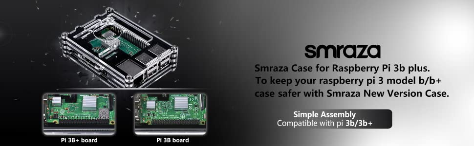 Smraza Raspberry Pi 3 B+ Case, Raspberry Pi Case with Fan Raspberry Pi Heatsink Raspberry Pi Fan for Raspberry Pi 3 B+ & Compatible with Raspberry Pi ...