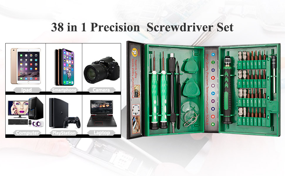 LB1 High Performance Professional 54 Piece Tool Screwdriver Bit Set Repair Kit Hand Tool Kit for HP Geek Squad Certified Envy 15.6 Laptop 6GB Memory 750GB Hard Drive Natural Silver m6-1205dx