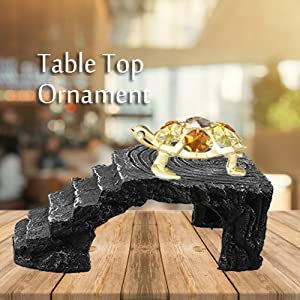 Amazon.com: Bañados en oro de 24 K Studded tortuga de vidrio ...