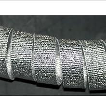 tarnishstop's silver lurex grosgrain ribbon closeup