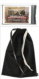 tarnishstop anti-tarnish bag and polishing cloth bundle, small