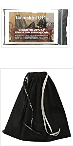 tarnishstop anti-tarnish bag and polishing cloth bundle, medium